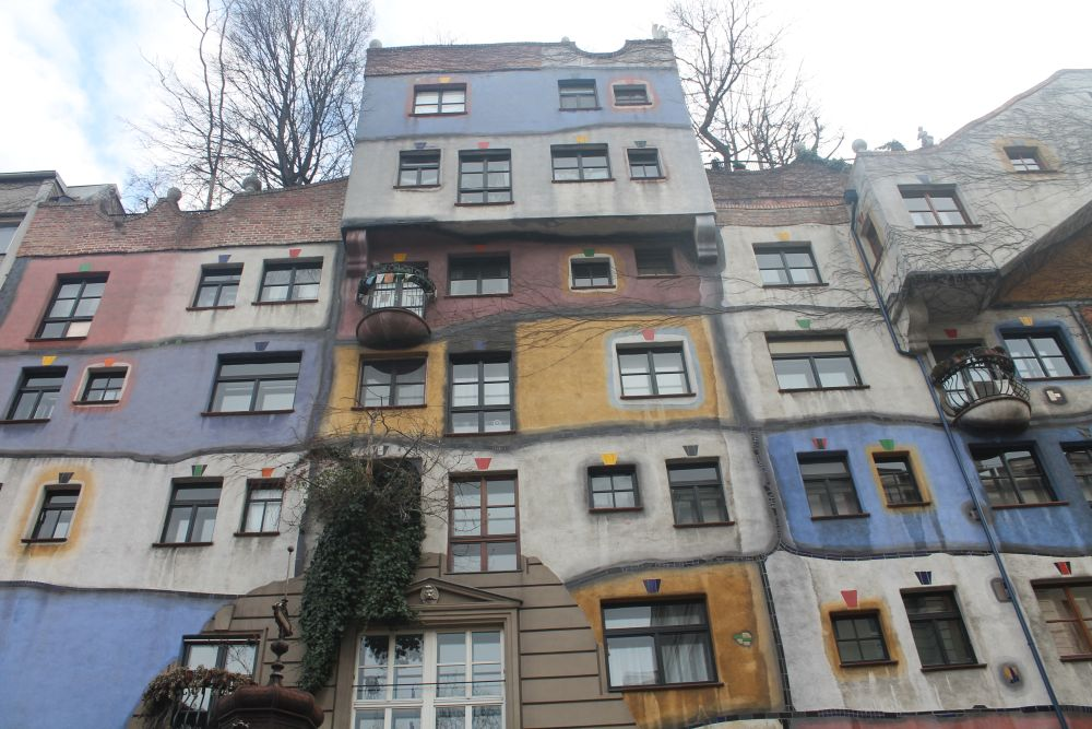 viyana renkli binalar