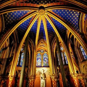 sainte chapelle kilisesi içi