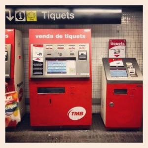 barselona metro bilet cihazları