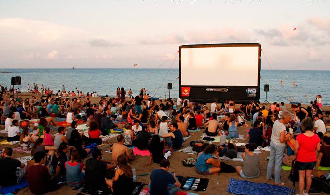 barselona plaj sinema