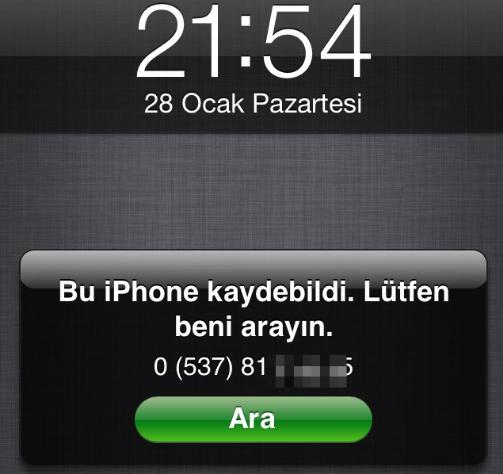 iphone kayip modu