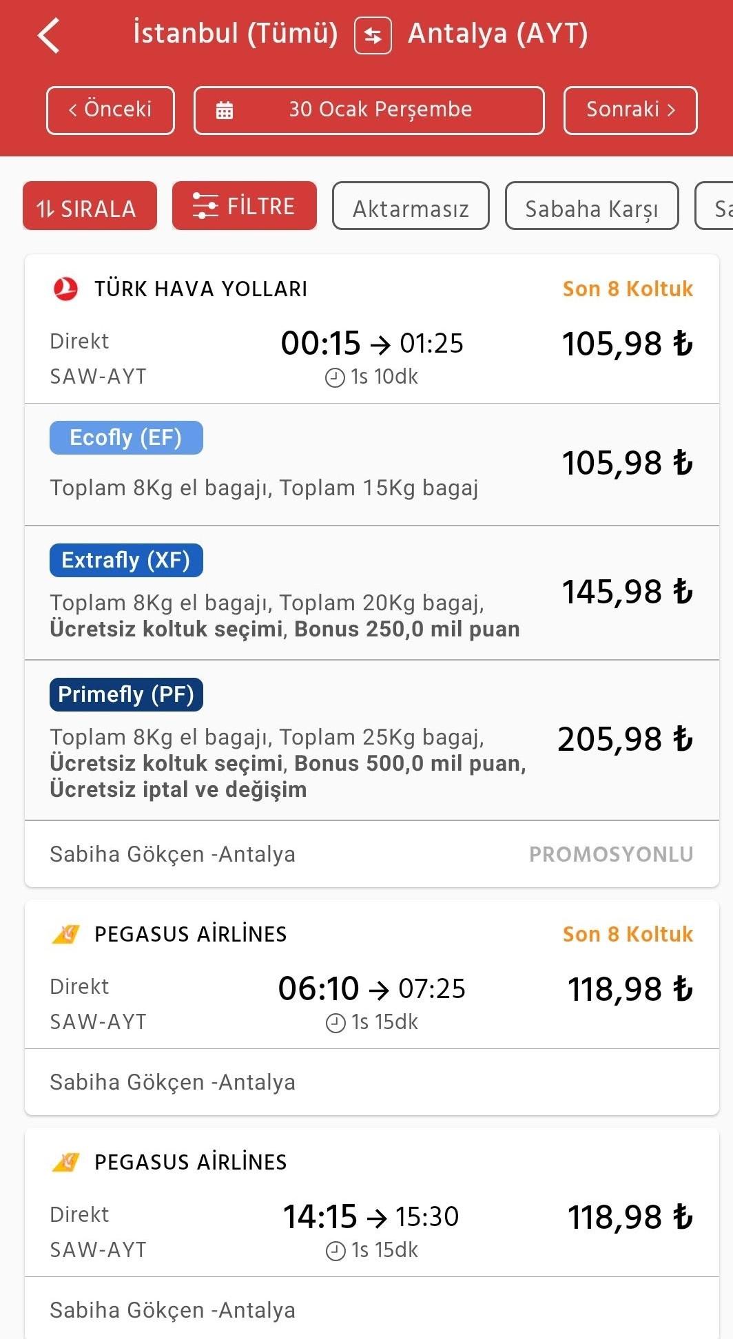 obilet.com Uçak Bileti