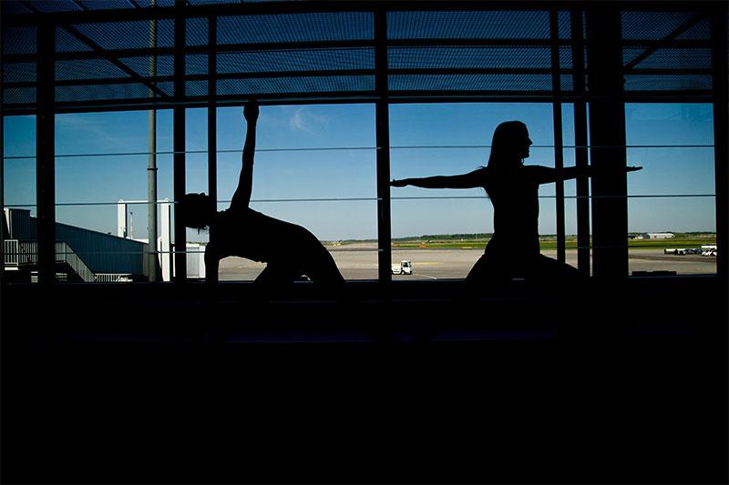 Havalimanında Yoga