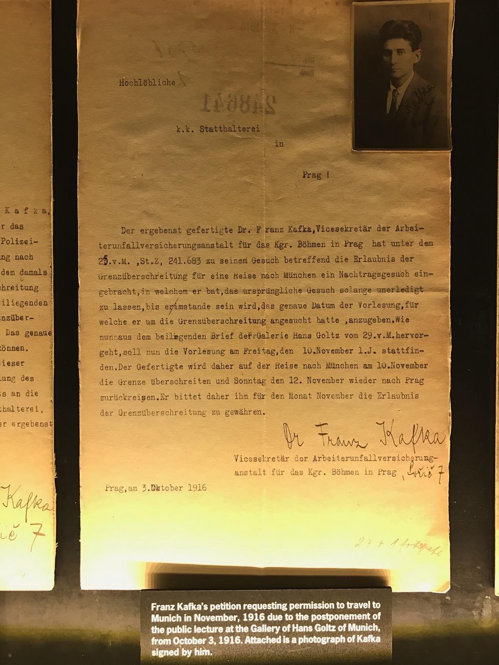 franz kafka dilekçe el yazısı