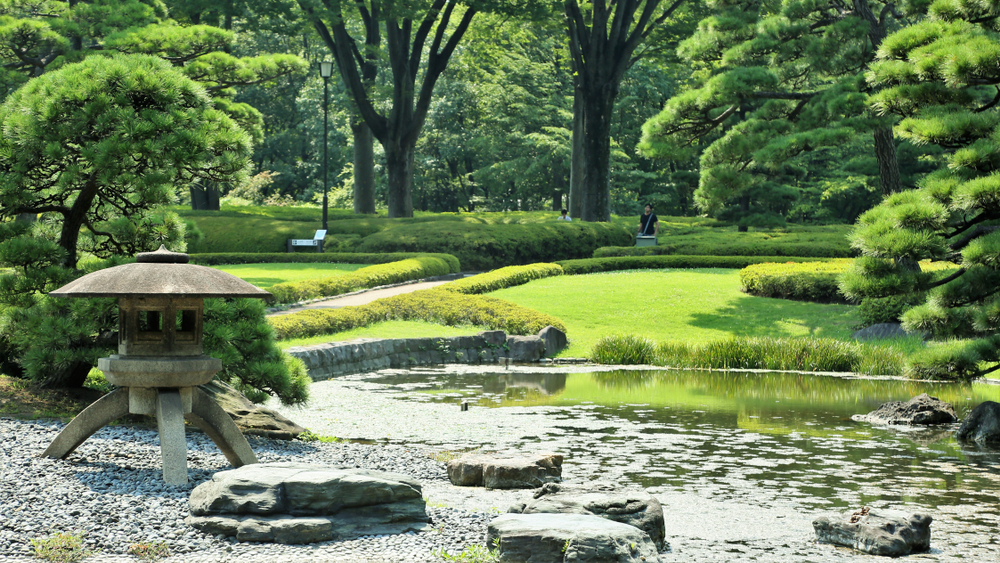 İmparatorluk Sarayı ve Doğu Bahçesi Tokyo Japonya