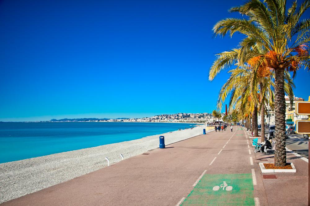 Promenade des Anglais in Nice, Fransa